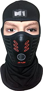 M1 Full Face Cover Balaclava Protection Filter Rubber Mask (BALA-FILT-RUBB-BKRD)