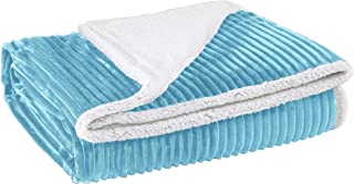 "Home Sweet Home Dreams Inc Super Soft Blanket for Bed or Couch - Reversible Fuzzy Sherpa Bed Blankets/All Season Cozy Blanket Comforter (90"" x 90"", Blue)"