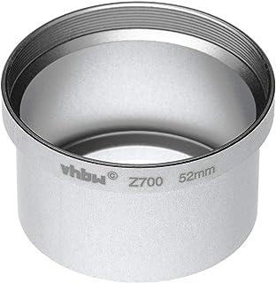 vhbw Adaptador de Filtro 52mm en Forma de Tubo para cámara Digital Reflex Objetivo Compatible con Kodak EasyShare Z700- Plata