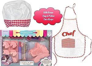 مجموعة أدوات وملحقات الخبز (26 قطعة) مع مريلة للأطفال للطبخ والخبز، مجموعة الخبز وحيد القرن، طقم الخبز للبالغين، مجموعة تز...