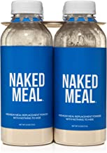 NAKED Meal - Protein Shakes Ready To Drink - Meal Replacement Shakes For Weight Loss or Workout Recovery - Low Carb, No Soy, GMO or Gluten - Pre & Probiotics - 6 Bottles