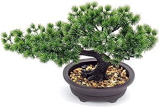 (Zen) - Artificial Plants Bonsai Pine Tree, Artificial House Welcoming Pot Plants, Japanese Pine Desktop Display Simulatio...