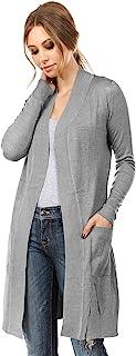 Cielo Women`s Long Sleeve Sweater Duster Cardigan