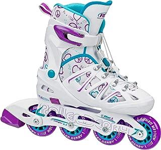 Roller Derby Girl's Stinger 5.2 Adjustable Inline Skate (Renewed)