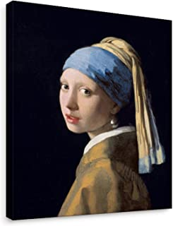 Niwo Art - Girl with a Pearl Earring, World's Most Famous Paintings Series, Canvas Wall Art Home Decor, Gallery Wrapped, Stretched, Framed Ready to Hang (16