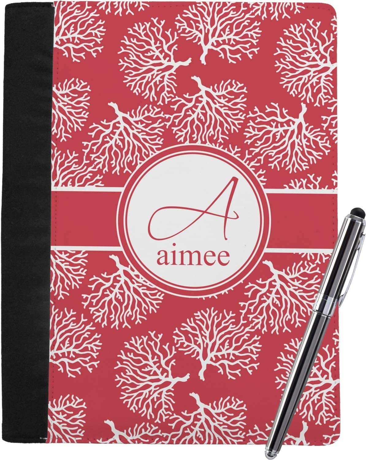 Coral Super special price Notebook Padfolio - Be super welcome Large Name Initial and w