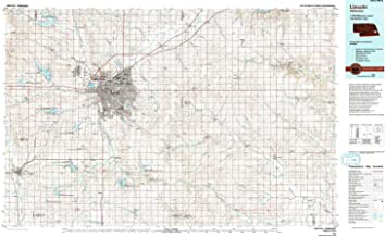 YellowMaps Lincoln NE topo map, 1:100000 Scale, 30 X 60 Minute, Historical, 1986, Updated 1994, 24.1 x 39.9 in