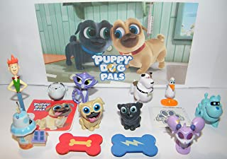 Puppy Dog Pals Figure Set with 12 Fun Figures, PAW Tattoo and Special Sticker Featuring Rolly, Bingo, Hissy, Robot Dog, 2 Skateboards and More!