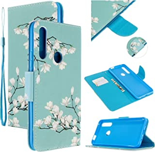 Nadoli Färgglatt flippfodral för Huawei P Smart Z, Gardenia målad PU läder bokstil magnetisk stängning handledsrem plånbok...