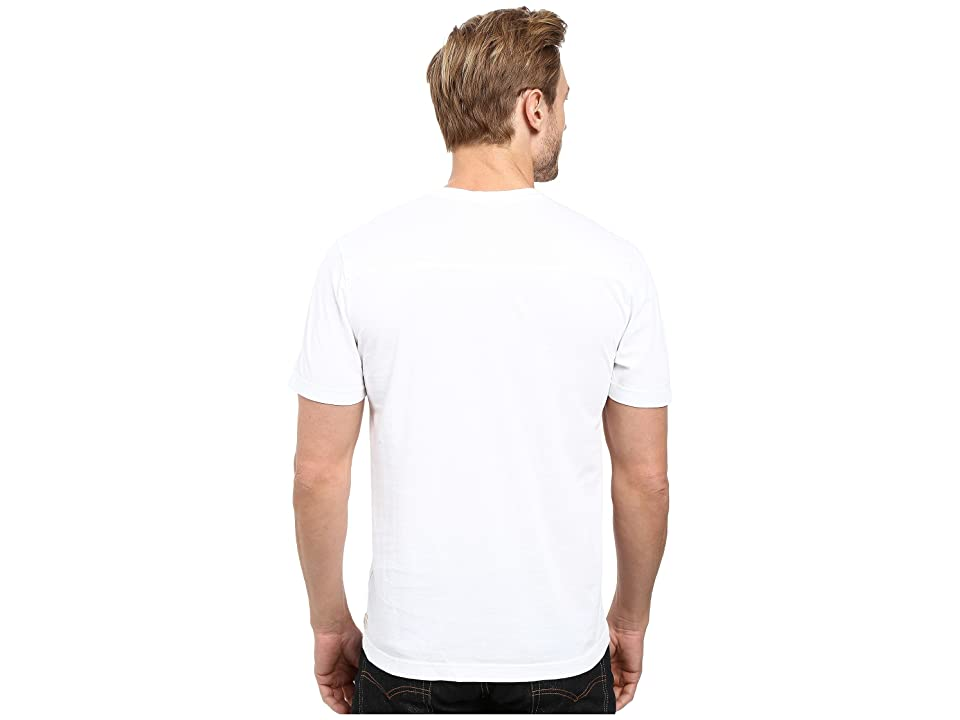 Agave Denim Agave Supima Vee Neck Short Sleeve Tee (White) Men's T Shirt