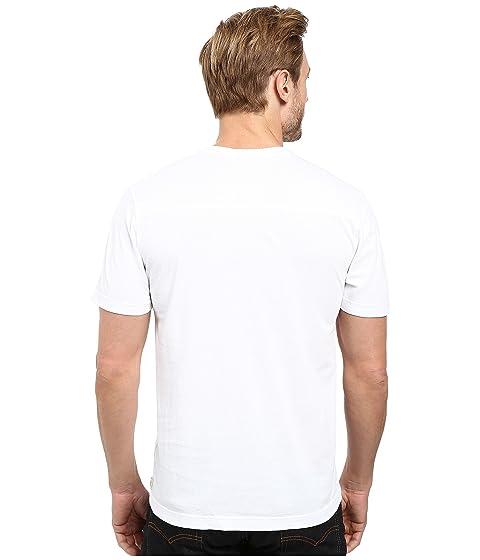 Camiseta en Denim de blanca manga con Agave cuello Supima y Agave V corta wU4SCqw