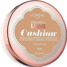 L'Oréal Paris True Match Lumi Cushion Foundation, W4 Natural Beige, 0.51 oz.