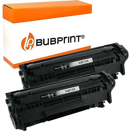 2 Bubprint Toner Kompatibel Für Hp Q2612a 12a Für Laserjet 1010 1012 1015 1018 1020 1022 1022n 1022nw 3015 3020 3030 3050 3052 3055 M1005 M1319f Mfp Schwarz Bürobedarf Schreibwaren