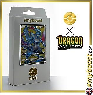 White Kyurem-GX SM141 Full Art - #myboost X Sun & Moon 7.5 Dragon Majesty - Box of 10 Pokemon English Cards