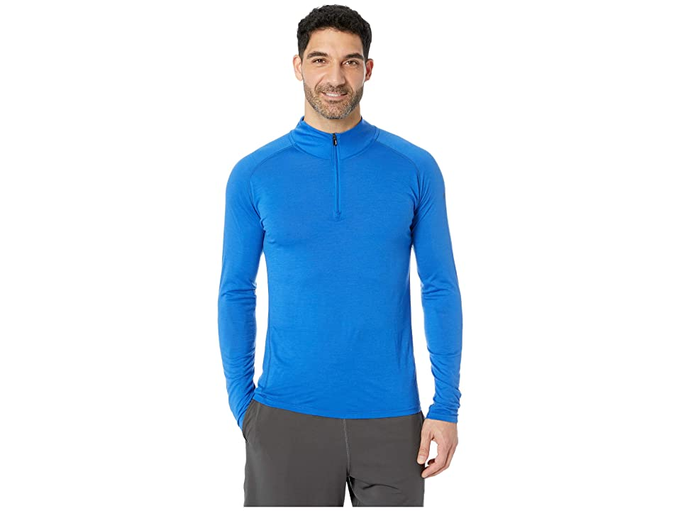 Smartwool Merino 150 Base Layer 1/4 Zip (Bright Blue) Men