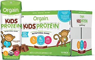 Orgain Organic Kids Protein Nutritional Shake, Chocolate - Great for Breakfast & Snacks, 26 Vitamins & Minerals, 10 Fruits...