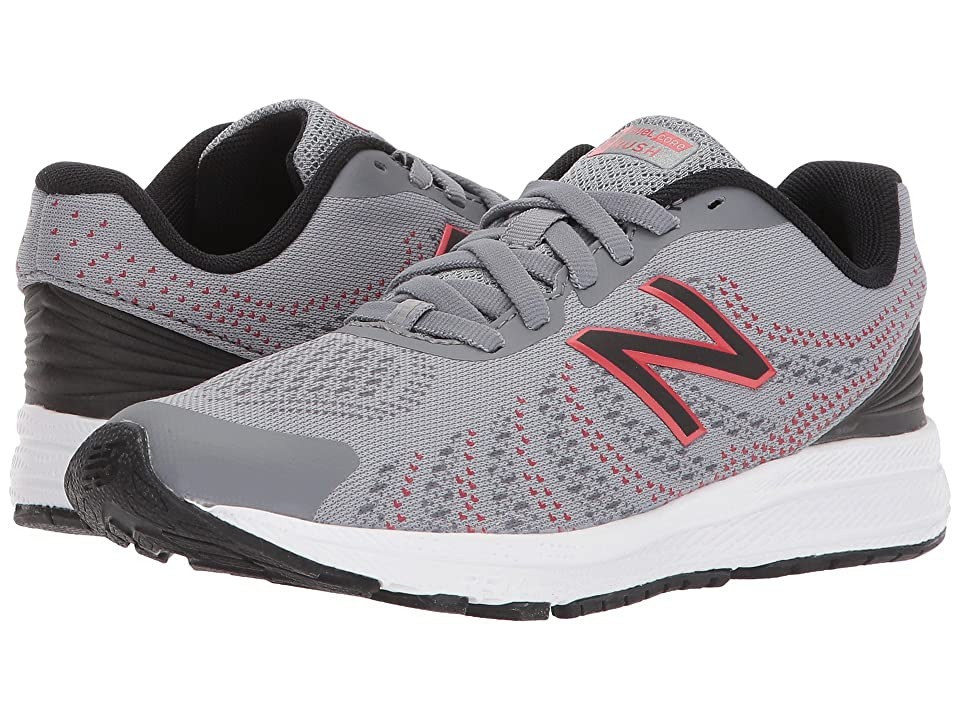 New Balance Kids KJRUSv3P (Little Kid) (Grey/Black) Boys Shoes