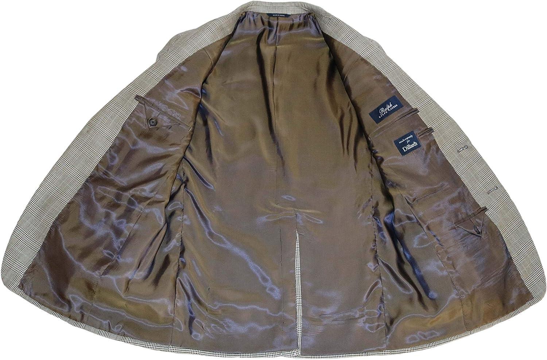 Ralph Lauren Men's Suit Jacket Black/Tan Plaid Blazer, 40 Regular