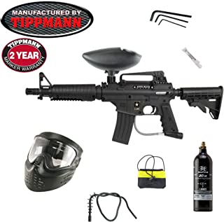 Tippmann US Army Alpha Black Elite Paintball Gun 20oz Basic Kit