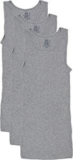 Fruit of the Loom Men's A-Shirt Multipack (Medium, Grey)