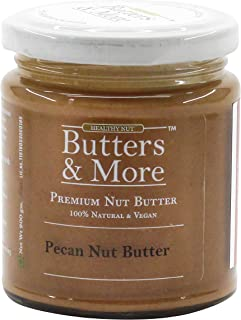 Butters & More Vegan Natural Pecan Nut Butter (200G) Unsweetened Single Ingredient Premium Nut Butter.