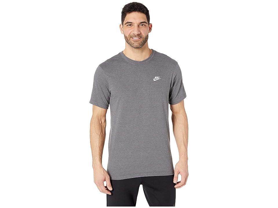 Nike NSW Club Tee (Charcoal Heather/White) Men