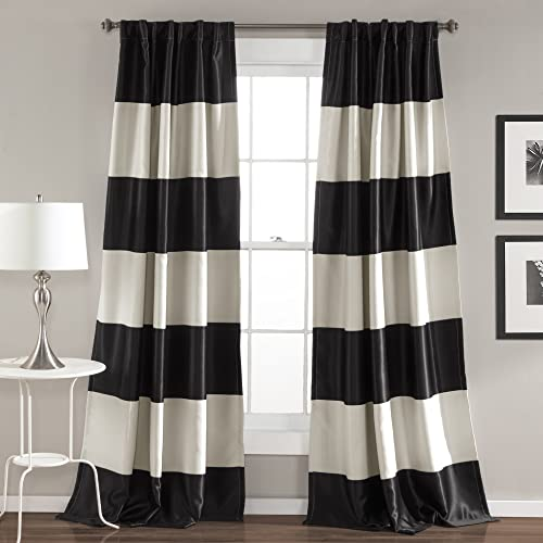 Cream and Black Curtains: Amazon.com