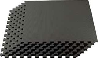 We Sell Mats 3/8 Inch Thick Multipurpose Exercise Floor Mat with EVA Foam, Interlocking..