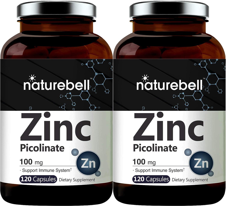 2 favorite Pack Maximum Strength Max 47% OFF 100mg Picolinate Supplement Zinc