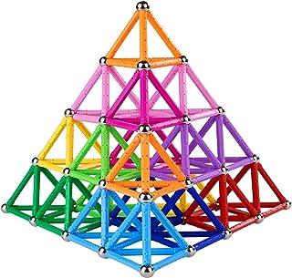 178 قطعة 2.28 بوصة ألعاب أعواد بناء مغناطيسية ، مجموعة ألعاب بناء مغناطيسية وألعاب ألغاز تعليمية للتراص للكبار والصغار