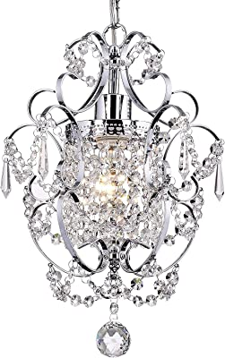 Fashionou Mini Crystal Light Raindrop Chandelier Ceiling Light Chandelier for Dining Room, Bathroom Fixtures Small Crystal Chandelier for Bedroom 4