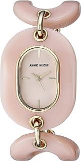 Anne Klein Women's AK/2674LPGB Gold-Tone and Light Pink Open Link Bracelet Watch