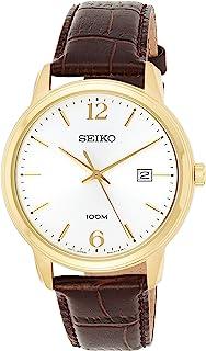 ساعة كوارتز للرجال من سيكو، بعرض انالوج وسوار من الجلد SUR266P1