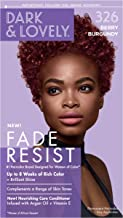 Permanent Hair Color by Dark and Lovely Fade Resist I Up to 100% Gray Coverage Hair Dye I Berry Burgundy 326 I SoftSheen-Carson I Packaging May Vary