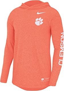Nike Men's Orange Clemson Tigers Marled Long Sleeve Hooded T-Shirt