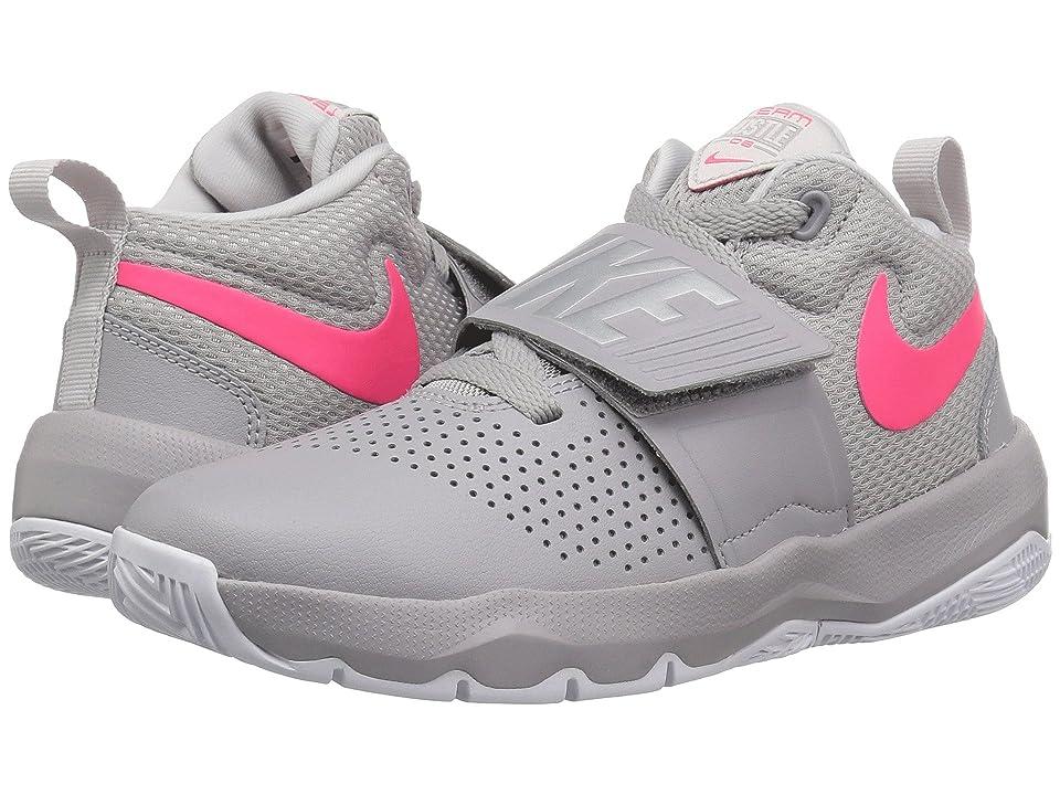 Nike Kids Team Hustle D8 (Big Kid) (Atmosphere Grey/Racer Pink/Vast Grey) Girls Shoes