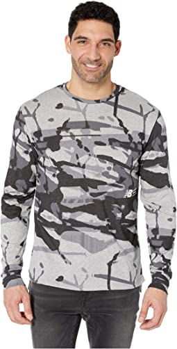 Printed R.W.T. Long Sleeve Heathertech Top