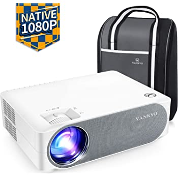 """VANKYO Videoproiettore 6800 Lumen, Proiettore 1080P Nativo Full HD Support 4K, Display da 300"""" 50° Correzione, con Borsa Portatile, per iOS Android TV Stick Casa Ufficio PPT, Performance V630"""