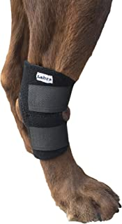 Buddy Products Labra Co. Dog Canine Rear Leg Hock Joint Wrap Protects Wounds as They Heal Compression Brace Heals and Prevents Injuries and Sprains Helps Arthritis