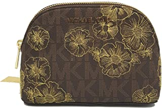 Michael Kors Jet Set Brown Embroided LG Travel Pouch