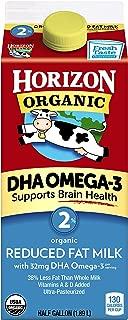 Horizon Organic, Milk Plus DHA Omega-3, 2% Reduced Fat Milk Ultra Pasteurized, Half Gallon, 64 oz
