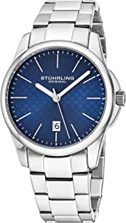 Stuhrling Original Symphony Men's Blue Dial Stainless Steel Watch - 3970.2, Analog Display