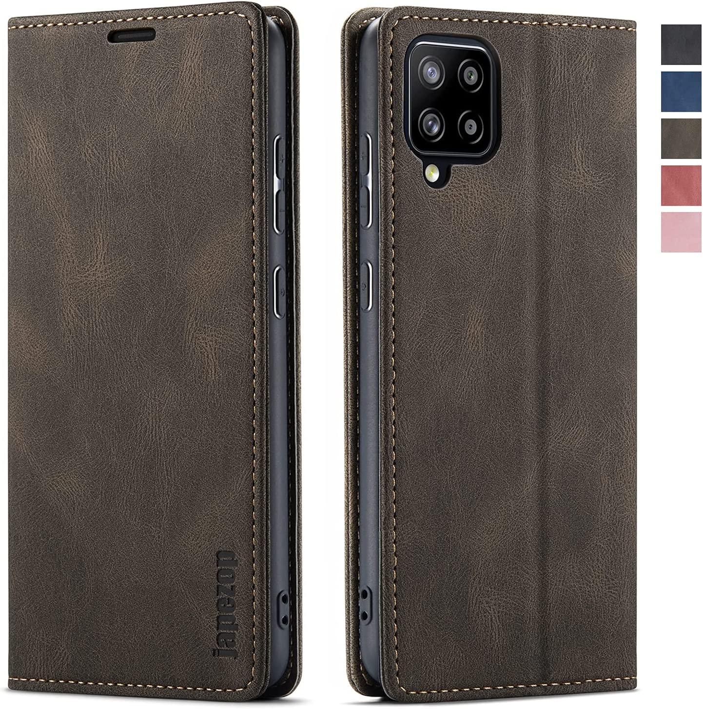 Samsung Galaxy A42 5G Case,Samsung Galaxy A42 5G Case Wallet with [RFID Blocking] Card Holder Kickstand Magnetic,Leather Flip Case for Samsung Galaxy A42 5G 6.6 inch (Coffee)