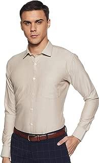 Amazon Brand - Symbol Men's Plain Slim Fit Formal Shirt