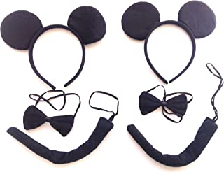 w.s.t Disfraz Black Mouse,Accesorio de Disfraz,2 Paquetes