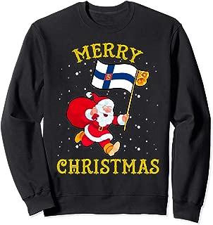 Santa Finland Merry Christmas Xmas Sweatshirt