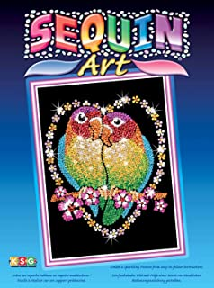 Sequin Art Blue, Love Birds, Sparkling Arts and Crafts Picture Kit, Creative Crafts