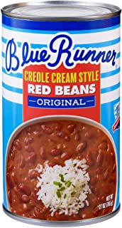 Blue Runner Creole Cream Style Red Beans 27oz Can (Pack of 6)