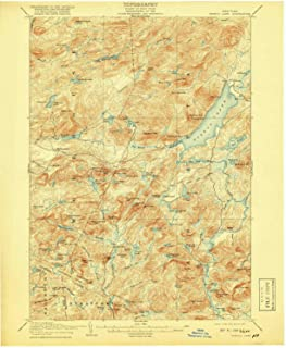 YellowMaps Piseco Lake NY topo map, 1:62500 Scale, 15 X 15 Minute, Historical, 1908, Updated 1918, 20.2 x 16.6 in
