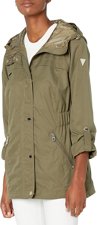 GUESS Women's Adjustable Long Sleeve Anorak Jacket